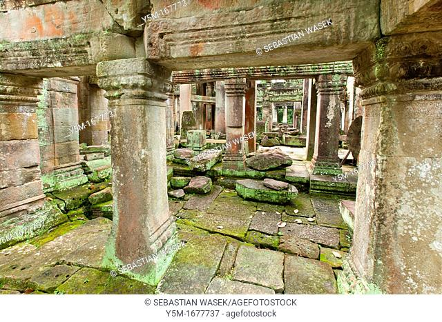 Preah KhanPrah Khan, Sacred Sword, is a temple at Angkor, Cambodia, built in the 12th century for King Jayavarman VII, It is located northeast of Angkor Thom