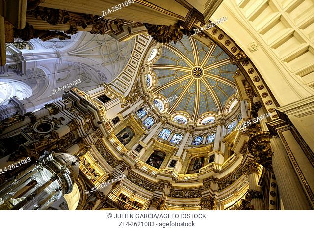 Spain, Andalusia (Andalucia), Granada, interior of the Cathedral of the Incarnation