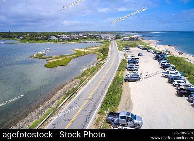 Menauhant beach near Bourne's pond on Cape Cod, Massachusetts