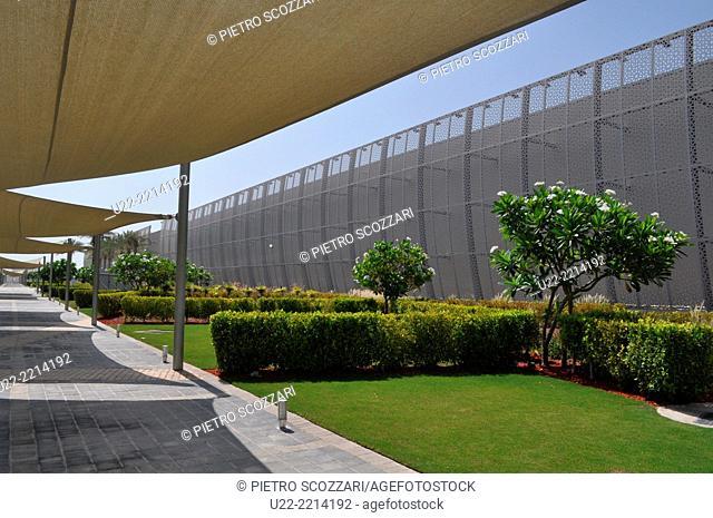 Abu Dhabi, United Arab Emirates. Saadiyat Cultural District. Manarat Al Saadiyat museum