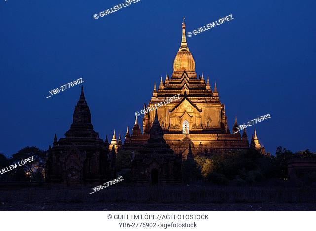 Htilominlo Temple at night, Bagan, Myanmar