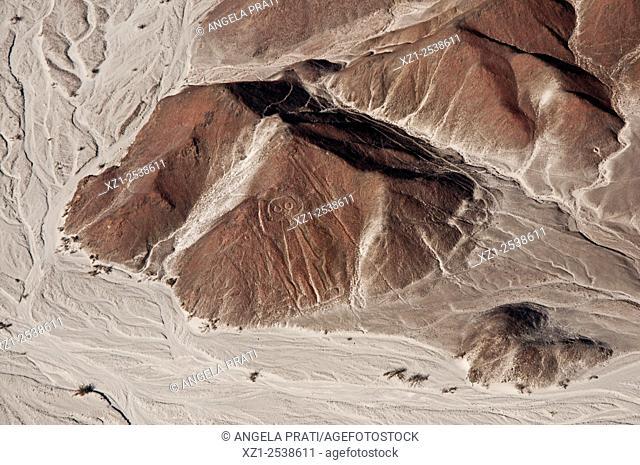 Nazca lines, view by plane, Peru