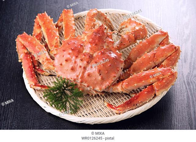 Boiled king crab