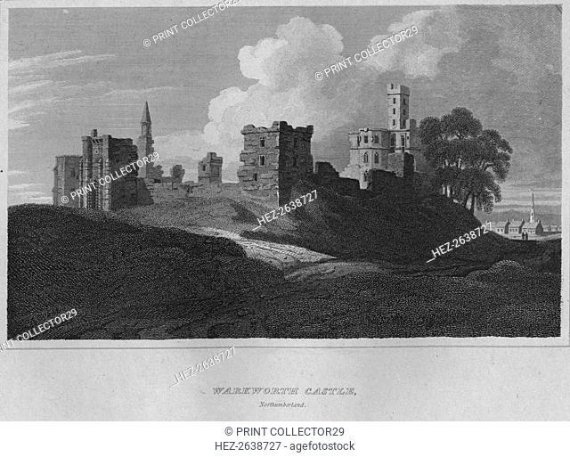 'Warkworth Castle, Northumberland', 1814. Artist: John Greig