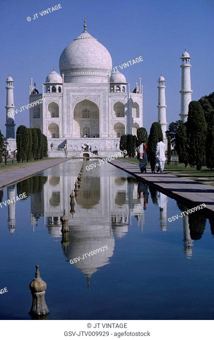 Taj Mahal and Reflecting Pool, Agra, India, 1962
