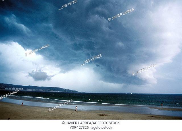 Stormy sky, Hendaye. Aquitaine, France
