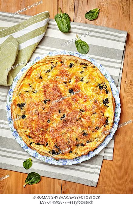 Homemade Spinach and Salmon Quiche