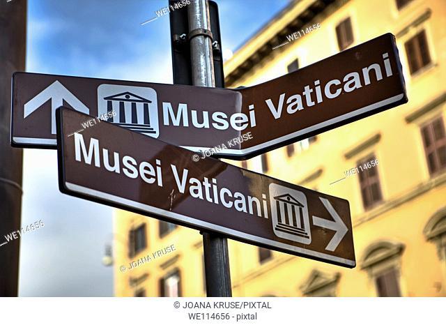Confusing signage in Rome, Lazio, Italy
