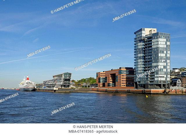 Apartmenthaus Crystal Tower at the harbour, Große Elbestraße, Altona, Hamburg, Germany