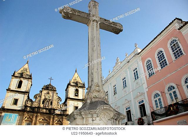 Salvador de Bahia, Bahia, Brazil, Pelourinho, Terreiro de Jesus, the Igreja de São Francisco on the background