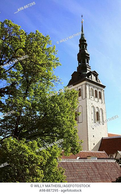 Nikolai church, lower town, Tallinn, Republic of Estonia, Eastern Europe