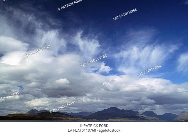 Clouds are a visible mass of condensed droplets, frozen crystals suspended in the atmosphere above the surface of the Earth