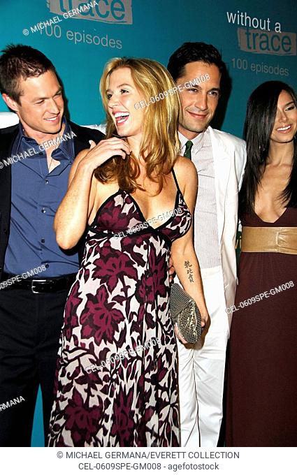 Eric Close, Poppy Montgomery, Enrique Murciano, Roselyn Sanchez at arrivals for WITHOUT A TRACE Celebrates 100th Episode, The Cabana Club at Sterling Steakhouse