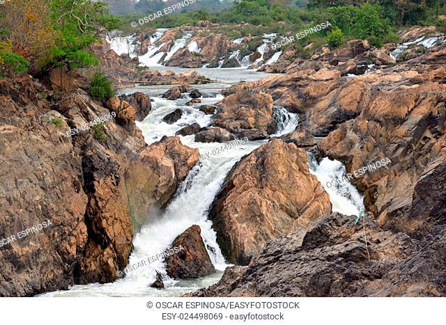 Waterfall in Don Khon, Si Phan Don, Laos