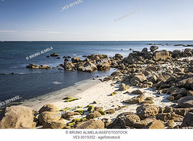 Beg Meil beach in Fouesnant (department of Finistère, region of Bretagne, France)