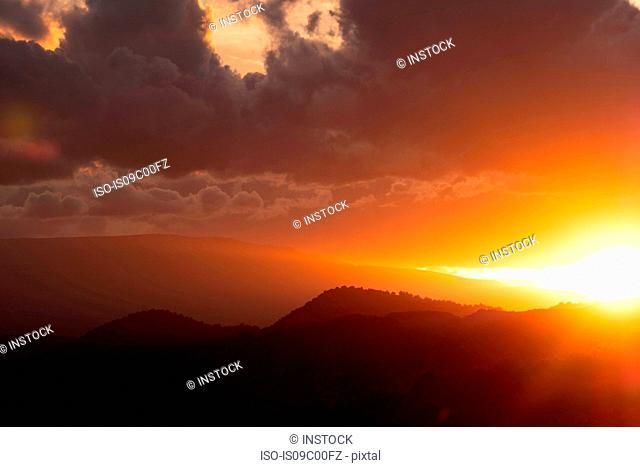 Scenic landscapes at sunset, Sedona, Arizona, USA