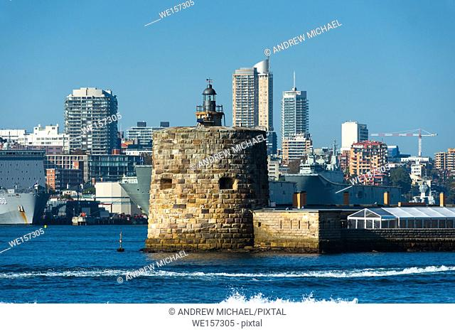 Fort Denison on Pinchgut Island in Sydney, New South Wales, Australia