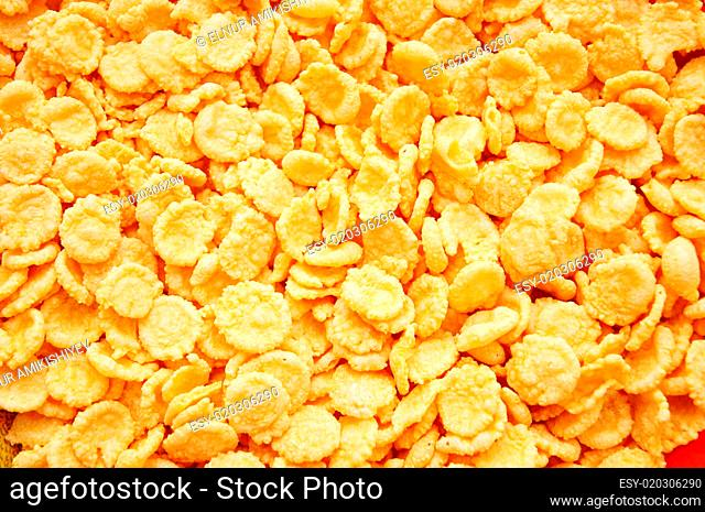 Cereal arranged as a background