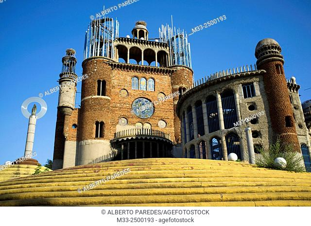 Cathedral in Mejorada del Campo, Madrid, built by Justo Gallego. Spain