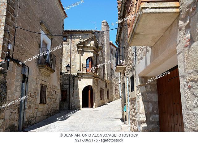 Casa de los Chaves Calderon, today the Palacio Chaves Hotel. Walled city. Trujillo, Caceres, Extremadura, Spain