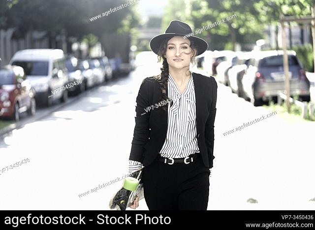Woman wearing hat. Munich, Germany