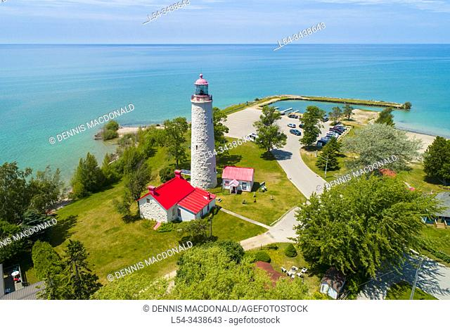 Point Clark Lighthouse, built between 1855 and 1859, is part of an important system of â. œImperialâ. . lighthouses on Lake Huron and Georgian Bay Ontario...