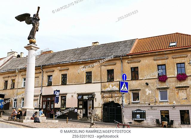 The Angel of Užupis. Uzupis is a neighborhood in Vilnius, on April 1, 1997, the district declared itself an independent republic