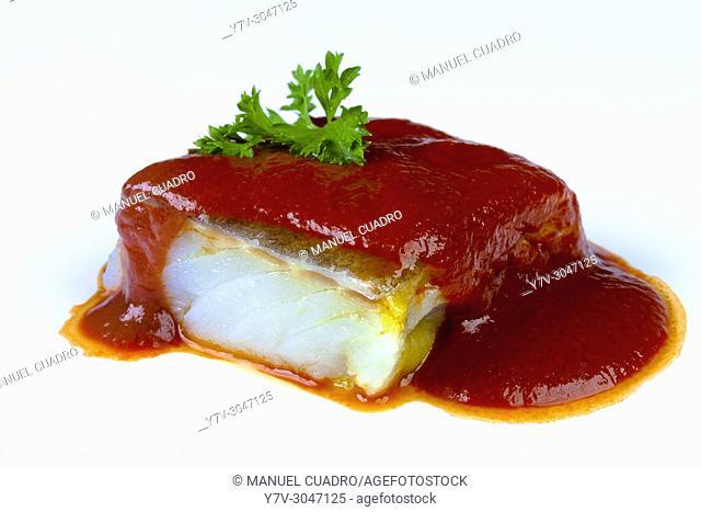 Bacalao (codfish) a la bizkaina