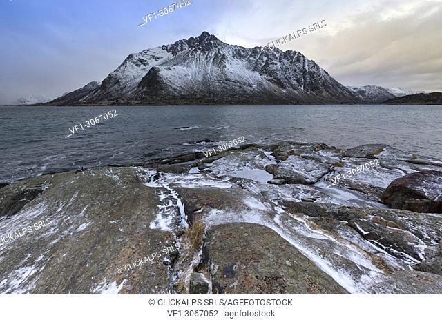 on the borders between Vagan and Vestvagoy, municipality of Vagan, Lofoten Island, Norway, Europe