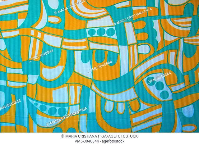 Detail of vintage fabric pattern