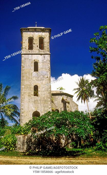 German colonial belltower, Kolonia, Pohnpei, Federated States of Micronesia