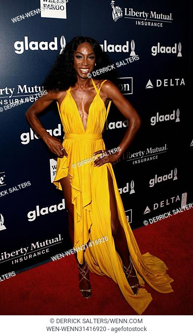 28th Annual GLAAD Media Awards held at New York Hilton Midtown - Arrivals Featuring: Angelica Ross Where: New York, New York