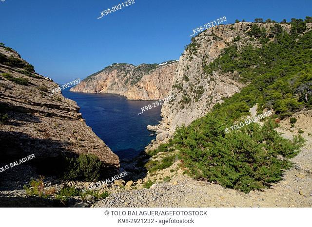 S'Aguila and Punta de sa Creu, municipio de San Juan de Labritja, Ibiza, Balearic Islands, Spain