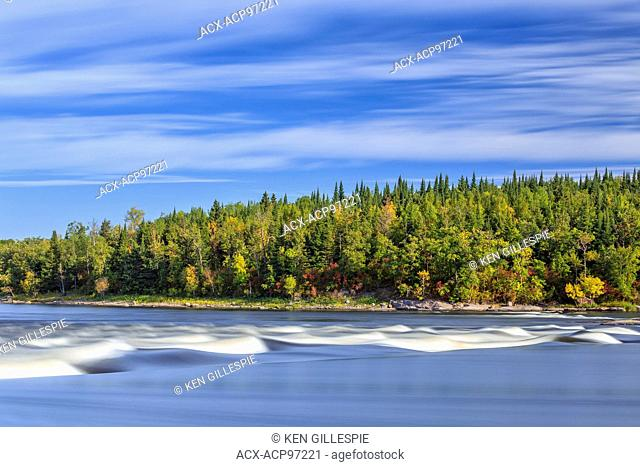 Sturgeon Falls on Nutimik Lake, Whiteshell Provincial Park, Manitoba, Canada