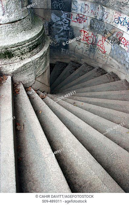 Stone steps near Gellert Hill in Buda, Budapest, Hungary