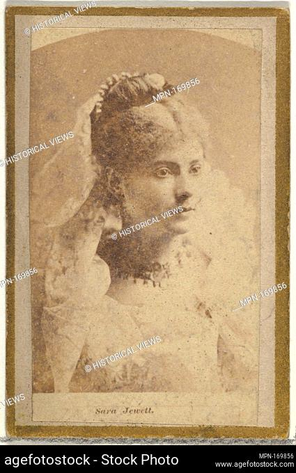 Sara Jewett, from the Actresses and Celebrities series (N60, Type 2) promoting Little Beauties Cigarettes for Allen & Ginter brand tobacco products