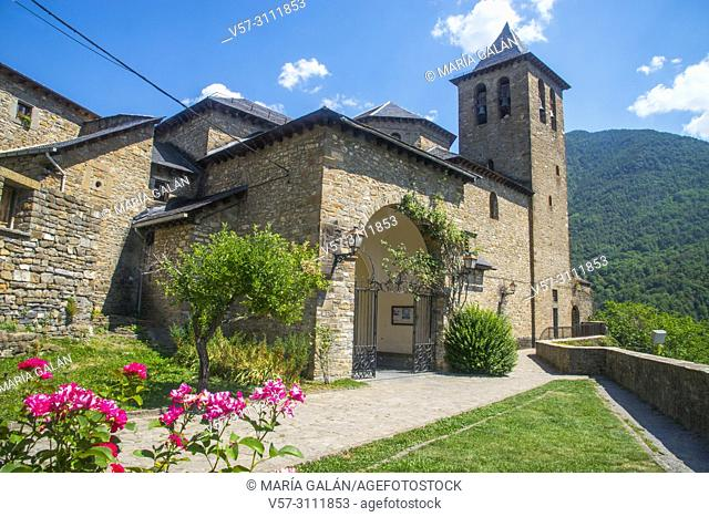 Church. Torla, Huesca province, Aragon, Spain