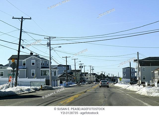 Winter in Seabrook, New Hampshire, United States