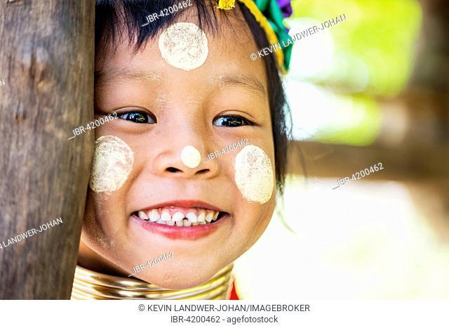 Kayan hill tribe girl, Chiang Mai, Thailand