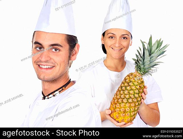 Team of two chefs