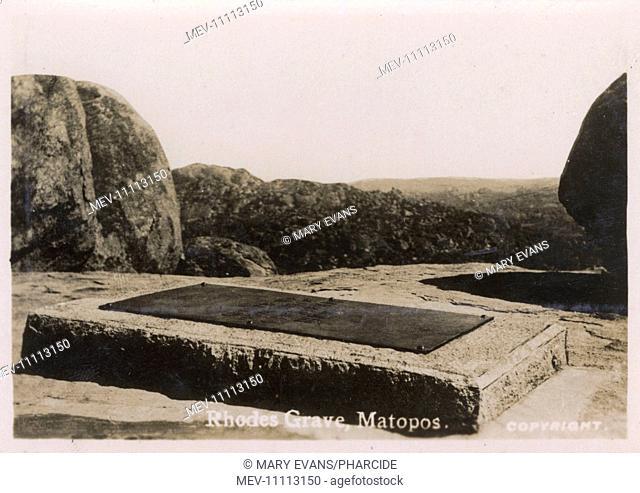 Grave of Cecil Rhodes, Matobo (Rhodes Matopos National Park), near Bulawayo, Southern Rhodesia (now Zimbabwe)