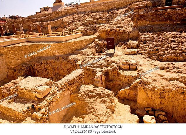 Temple of Serapis, Column of Pompey, Karmouz, City of Alexandria, Alexandria. Egypt
