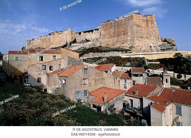 Ramparts of the Bonifacio citadel, Corsica, France