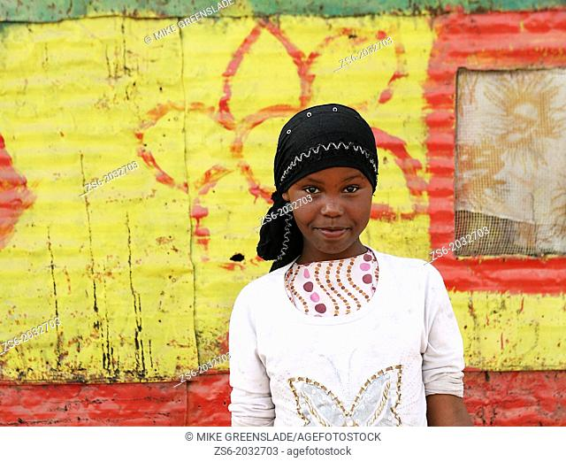 Young Somali girl in the Kood-Buur IDP camp, Hargeisa, Somaliland, Africa