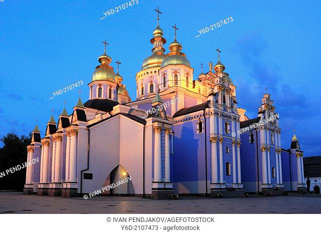 St Michael's Golden-Domed Monastery at Dusk, Kiev, Ukraine