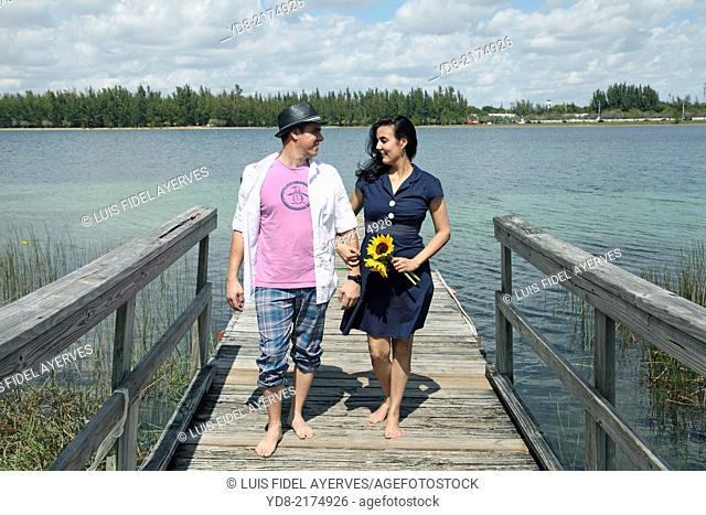 Dating couples lakeside park in Hialeah Amelia, Florida USA