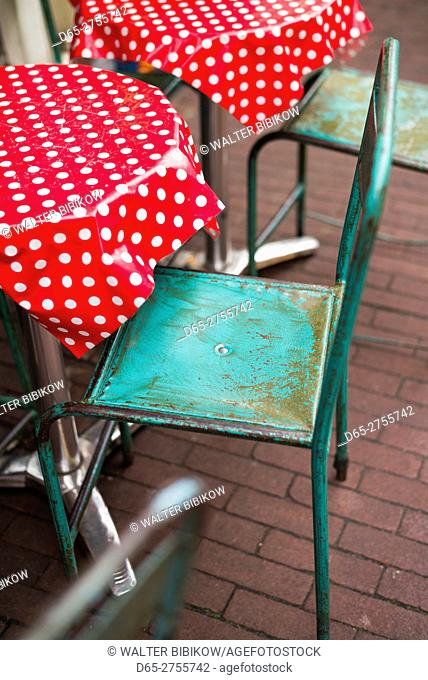 Netherlands, Amsterdam, Nine Streets area, cafe chair