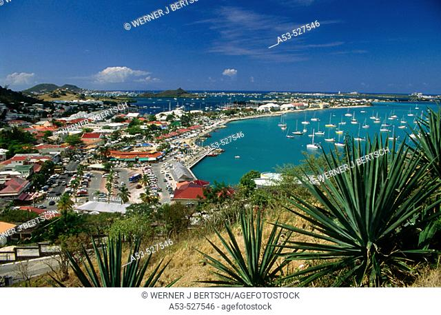 Marigot bay. Saint Martin. French West Indies. Caribbean