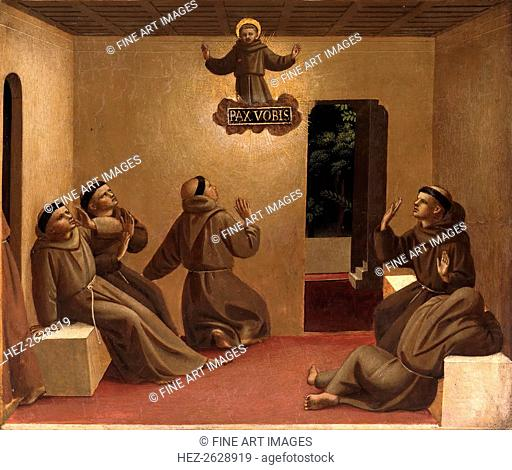 Apparition of Saint Francis at Arles (Scenes from the life of Saint Francis of Assisi), ca 1429. Artist: Angelico, Fra Giovanni, da Fiesole (ca