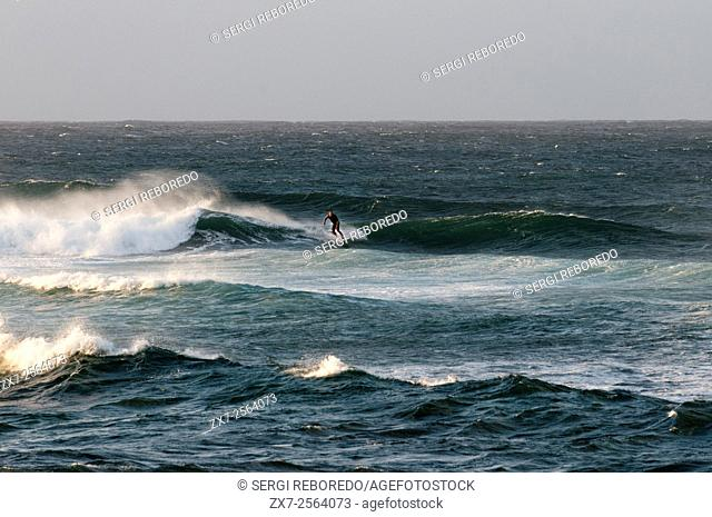 Wawes in Hookipa Beach. Maui. Hawaii. Hookipa Beach Park is one of the top spots for ocean sports and recreation in Maui